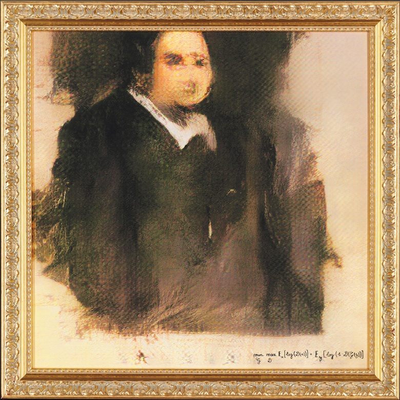 Portrait of Edmond Belamy AI painting